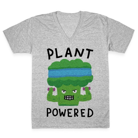 Plant Powered V-Neck Tee Shirt