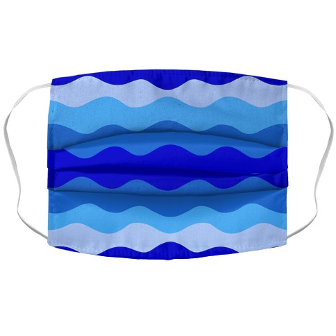 Blue Waves Face Mask