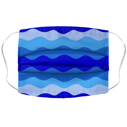 Blue Waves Face Mask Cover