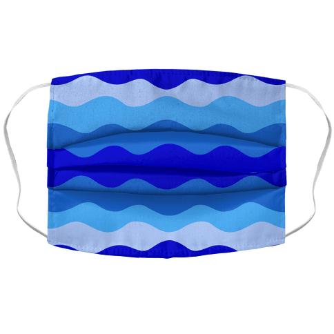 Blue Waves Face Mask