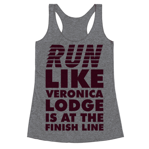 Run Like Veronica is at the Finish Line Racerback Tank Top