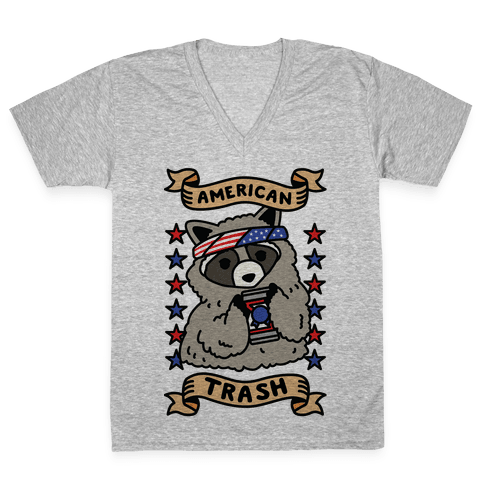 American Trash V-Neck Tee Shirt