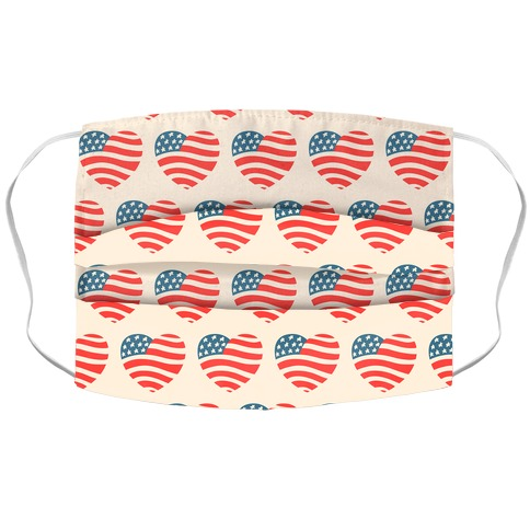 Merica Hearts Accordion Face Mask