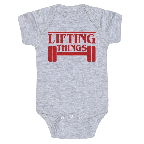 Lifting Things Baby Onesy