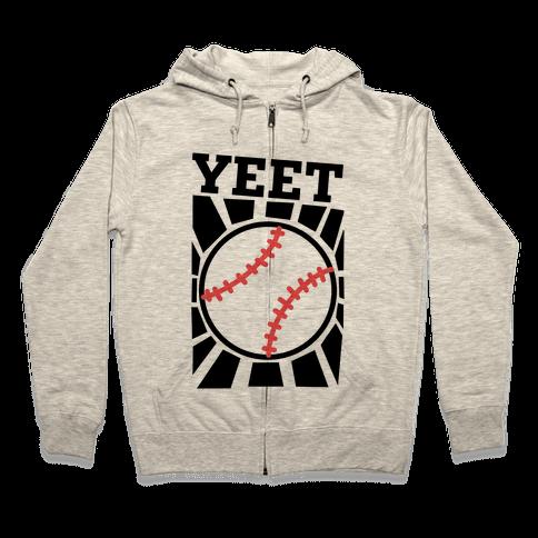 YEET - baseball Zip Hoodie