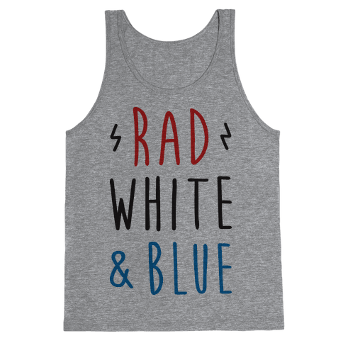 Rad White & Blue Tank Top