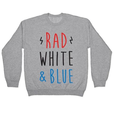Rad White & Blue Pullover