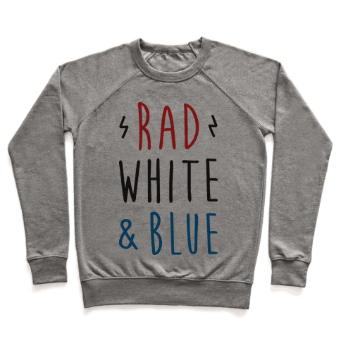 Rad White & Blue Pullover