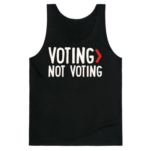 Voting > Not Voting White Print Tank Top