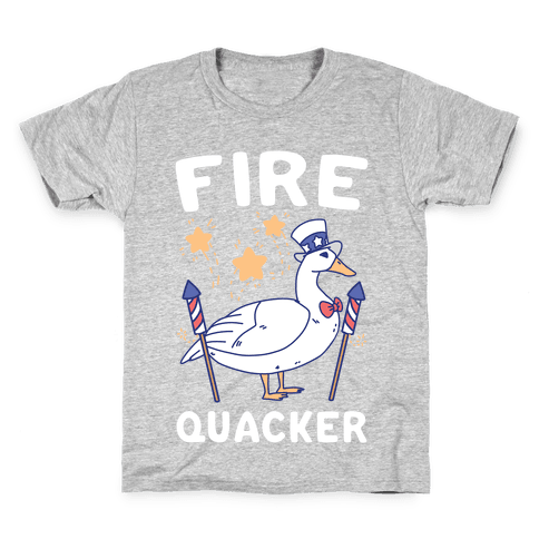 Fire Quacker  Kids T-Shirt