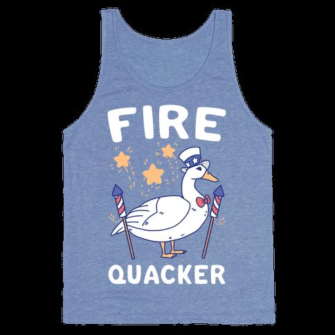 Fire Quacker  Tank Top
