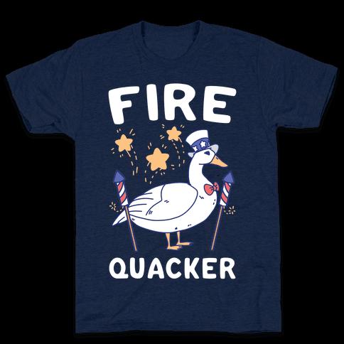 Fire Quacker  Mens/Unisex T-Shirt