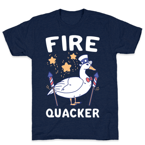 Fire Quacker  Mens/Unisex T-Shirt