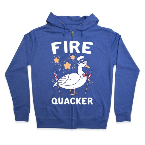 Fire Quacker  Zip Hoodie