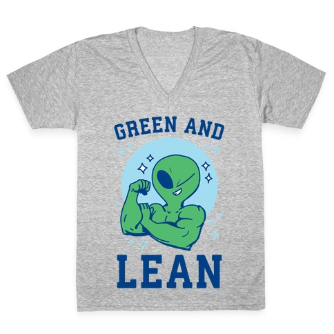 Green and Lean V-Neck Tee Shirt