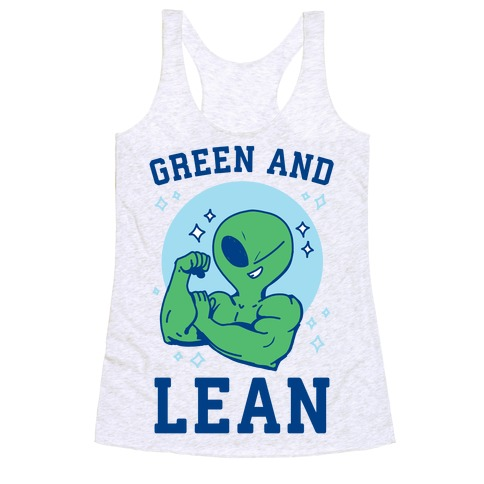 Green and Lean Racerback Tank Top