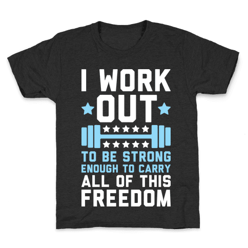 Carry All Of This Freedom Kids T-Shirt