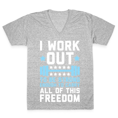 Carry All Of This Freedom V-Neck Tee Shirt