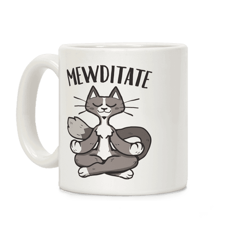 Mewditate Coffee Mug
