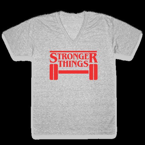 Stronger Things V-Neck Tee Shirt