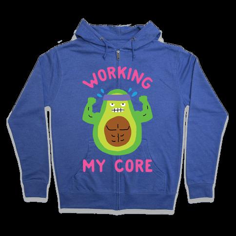 Working My Core Zip Hoodie
