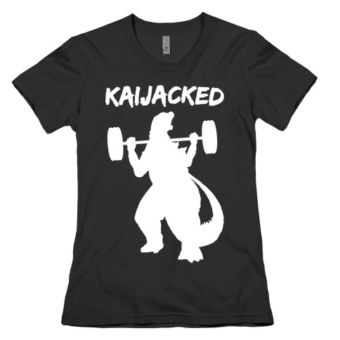 Kaijacked Kaiju Gozilla Womens T-Shirt