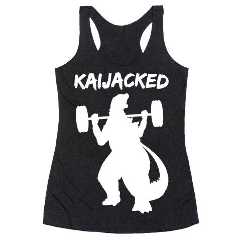 Kaijacked Kaiju Gozilla Racerback Tank Top