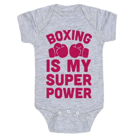 Boxing Is My Superpower Baby Onesy