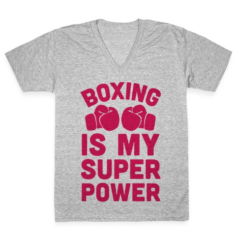 Boxing Is My Superpower V-Neck Tee Shirt