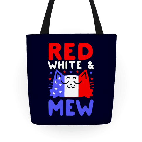 Red, White, And Mew Tote