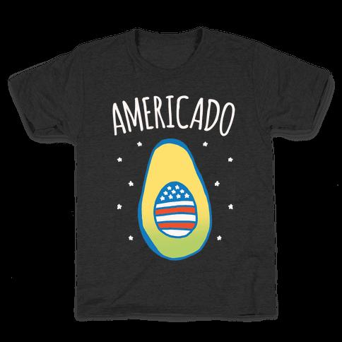 Americado Parody White Print Kids T-Shirt