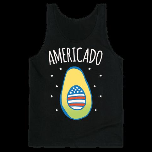 Americado Parody White Print Tank Top