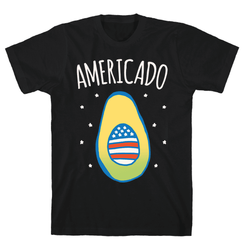 Americado Parody White Print Mens/Unisex T-Shirt