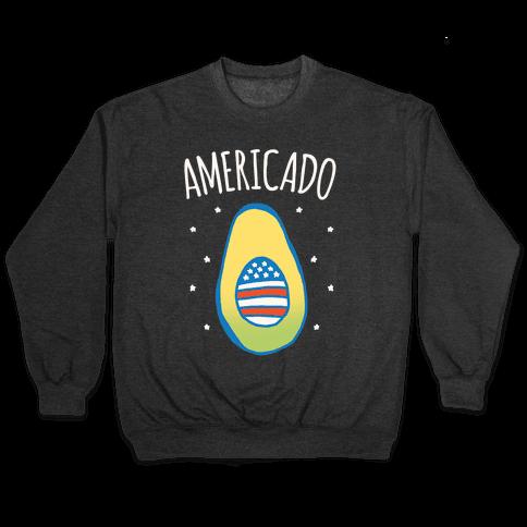 Americado Parody White Print Pullover