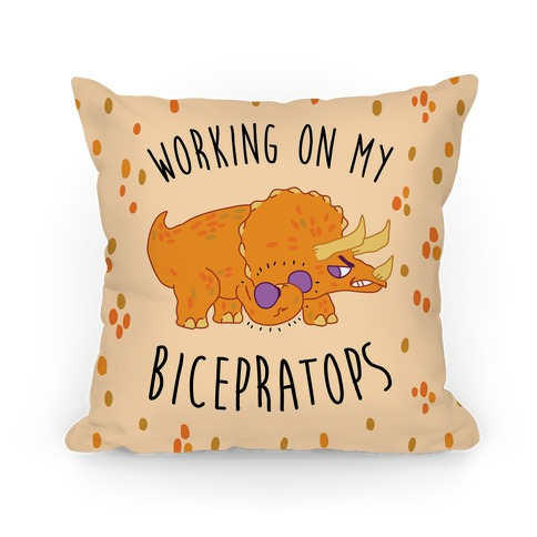 Working on My Bicepratops Pillow