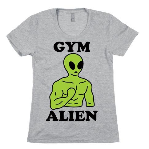 Gym Alien Womens T-Shirt