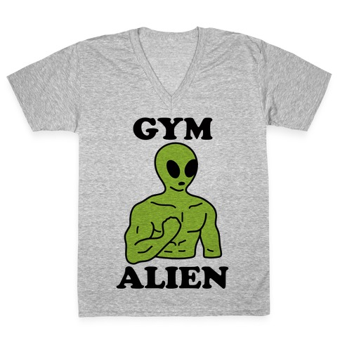 Gym Alien V-Neck Tee Shirt