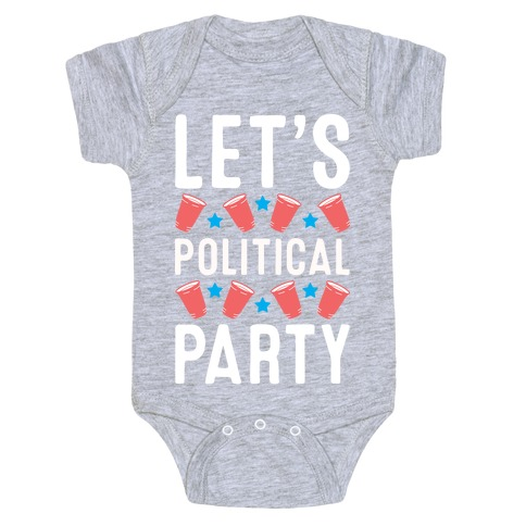 Let's Political Party Baby Onesy