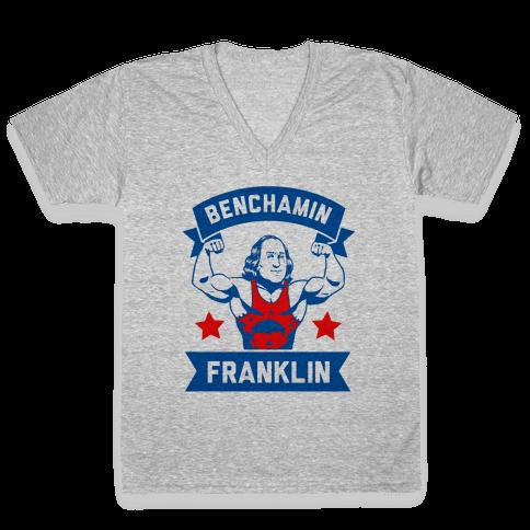 Benchamin Franklin V-Neck Tee Shirt