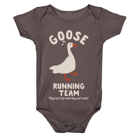 Goose Running Team Baby One-Piece