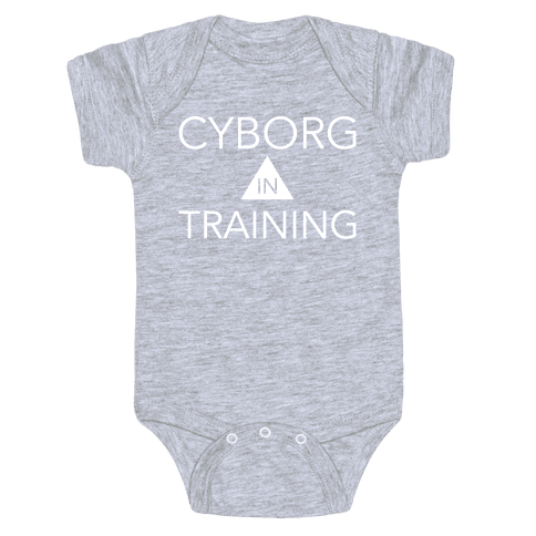 Cyborg In Training Baby Onesy