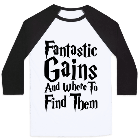 Fantastic Gains and Where To Find Them Parody Baseball Tee