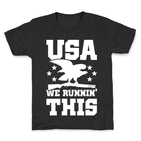 USA We Runnin' This Kids T-Shirt