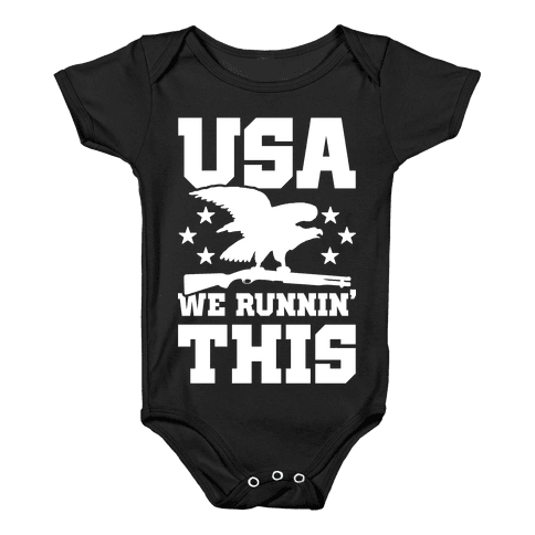 USA We Runnin' This Baby Onesy