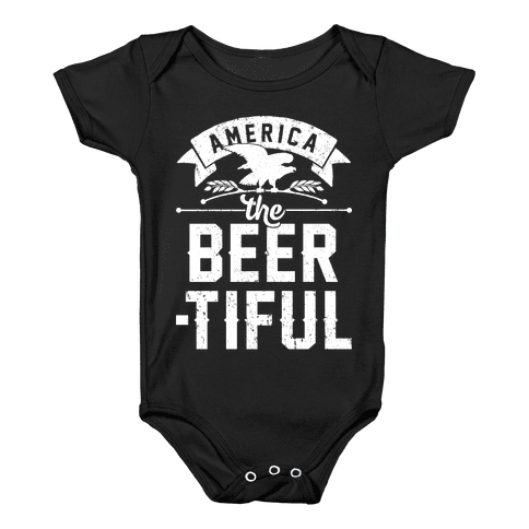 America The Beer-tiful Baby Onesy