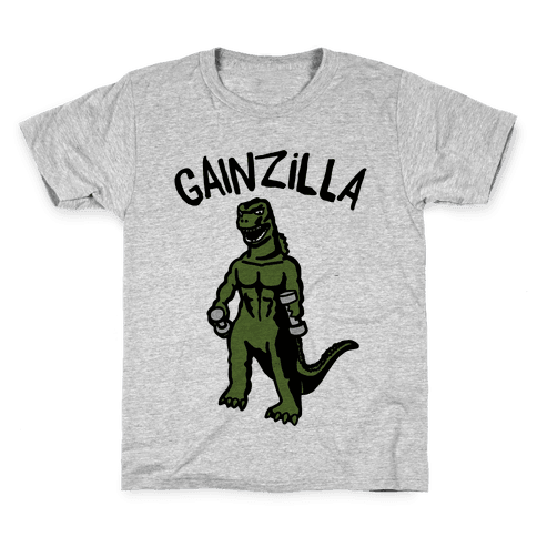 Gainzilla Lifting Parody Kids T-Shirt