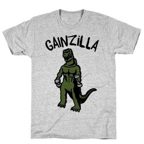 Gainzilla Lifting Parody T-Shirt