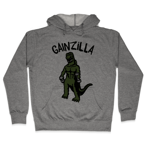 Gainzilla Lifting Parody Hooded Sweatshirt