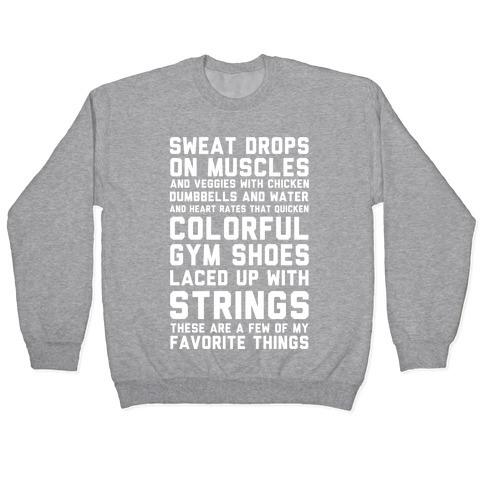 Sweat Drops On Muscles and Veggies With Chicken Pullover