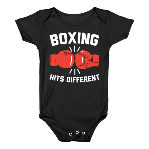 Boxing Hits Different Baby Onesy